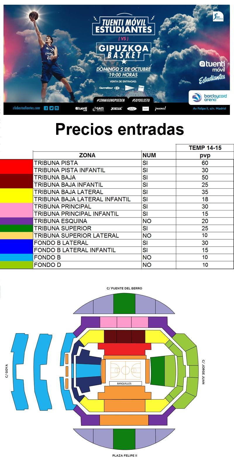 Precios entradas vs Gipuzkoa Basket desde 10 euros