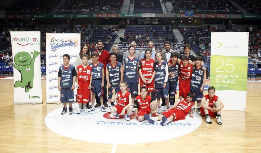 All Star Junior de Cetelem en colaboración con Fundación Estudiantes y Fundación Down Madrid en el Movistar Estudiantes- FIATC Joventut