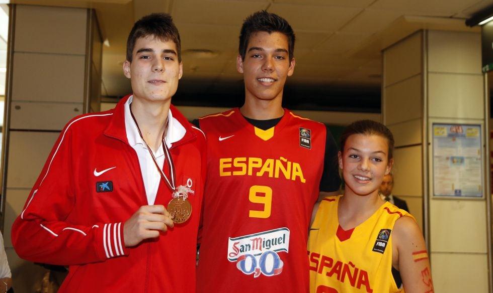 La jugadora cadete Andrea Hernangómez, en la selección española U15F