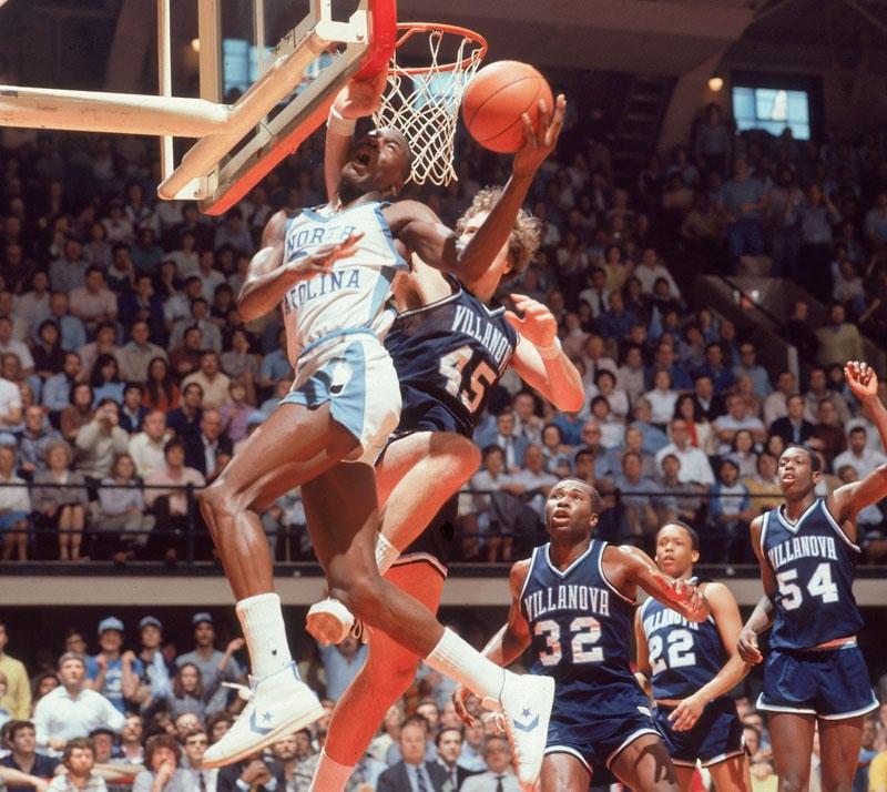Villanova VS North Carolina en 1982 = Pinone VS Jordan.