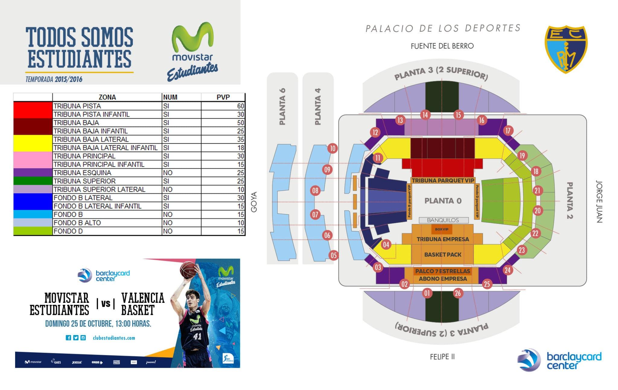 Entradas vs Valencia Basket. De 10 a 60 euros