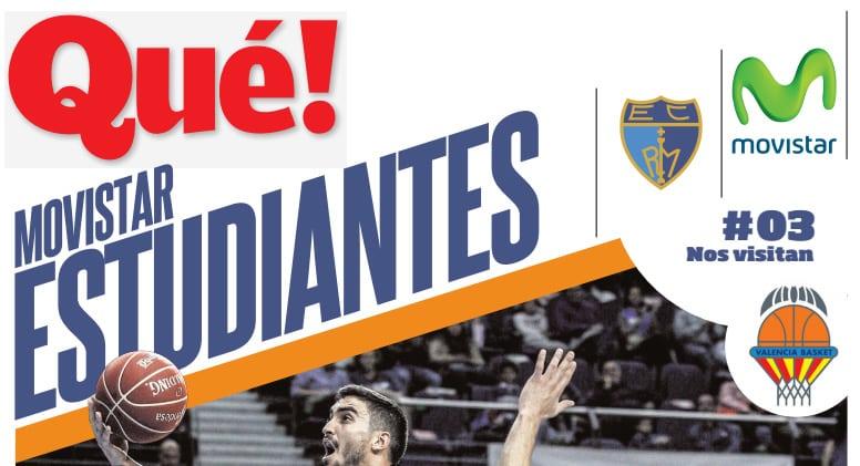 No te quedes sin tu periódico de partido Qué! Movistar Estudiantes este domingo ante Valencia
