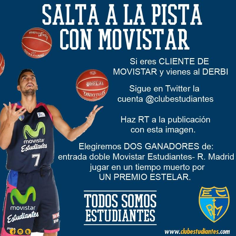 Si eres cliente de Movistar… podrás optar a saltar a la pista en el derbi y ganar un premio estelar