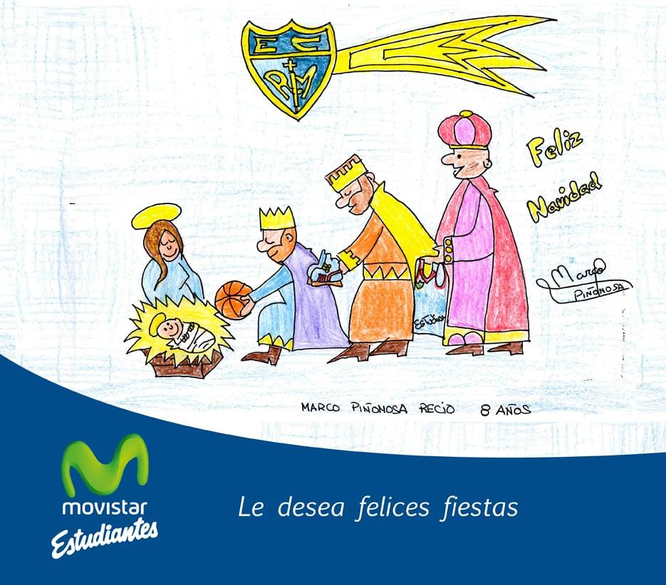 Concurso infantil de dibujo: haz la felicitación de Navidad de Movistar Estudiantes