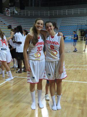 La jugadora cadete Andrea Hernangómez, convocada con la selección española U16