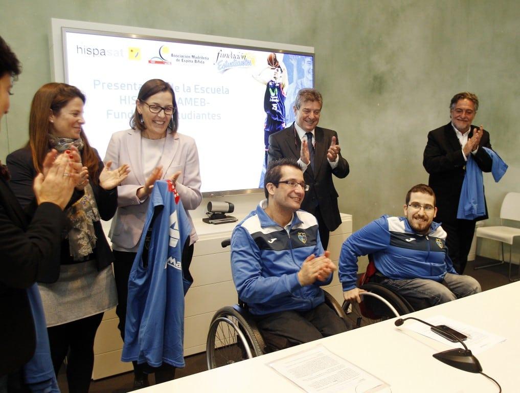Presentada la primera Escuela de Baloncesto en Silla de Ruedas de la cantera de Movistar Estudiantes