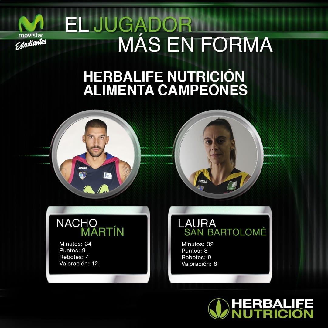 Herbalife presenta a los jugadores más en forma: Nacho Martín y Laura San Bartolomé