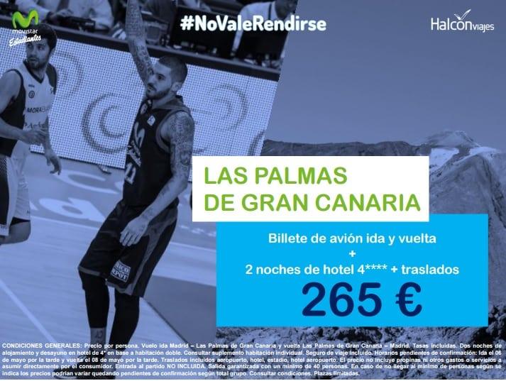 Viaja a Sevilla y Gran Canaria a apoyar a Movistar Estudiantes con los packs de Halcón Viajes