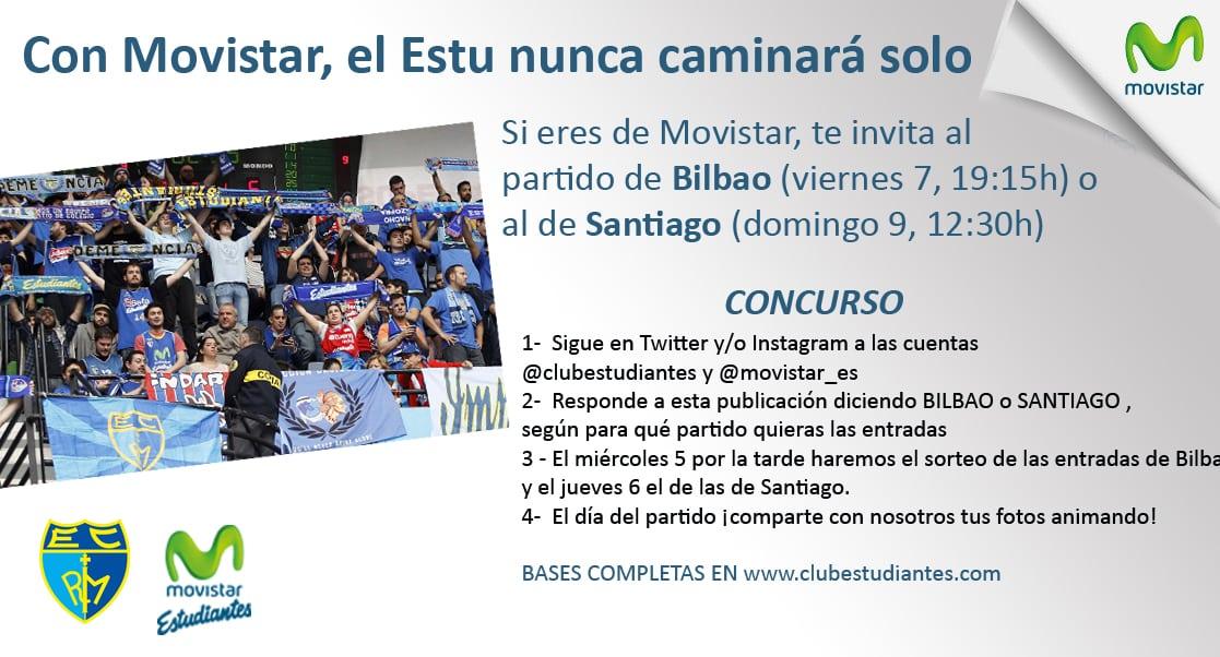 Con Movistar el Estu nunca caminará solo: te invita al partido de Bilbao o al de Santiago ¡participa en el concurso!