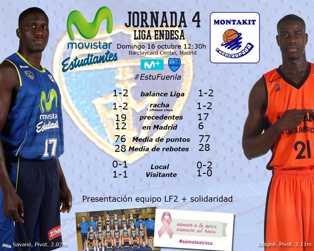 Movistar Estudiantes- Montakit Fuenlabrada: más que un derbi regional (domingo 12:30h. Movistar +. EstuRadio )