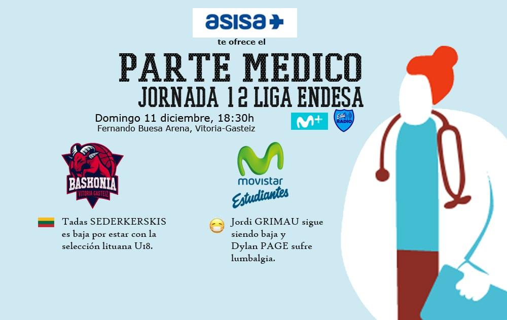Asisa ofrece el partido médico del Baskonia- Movistar Estudiantes