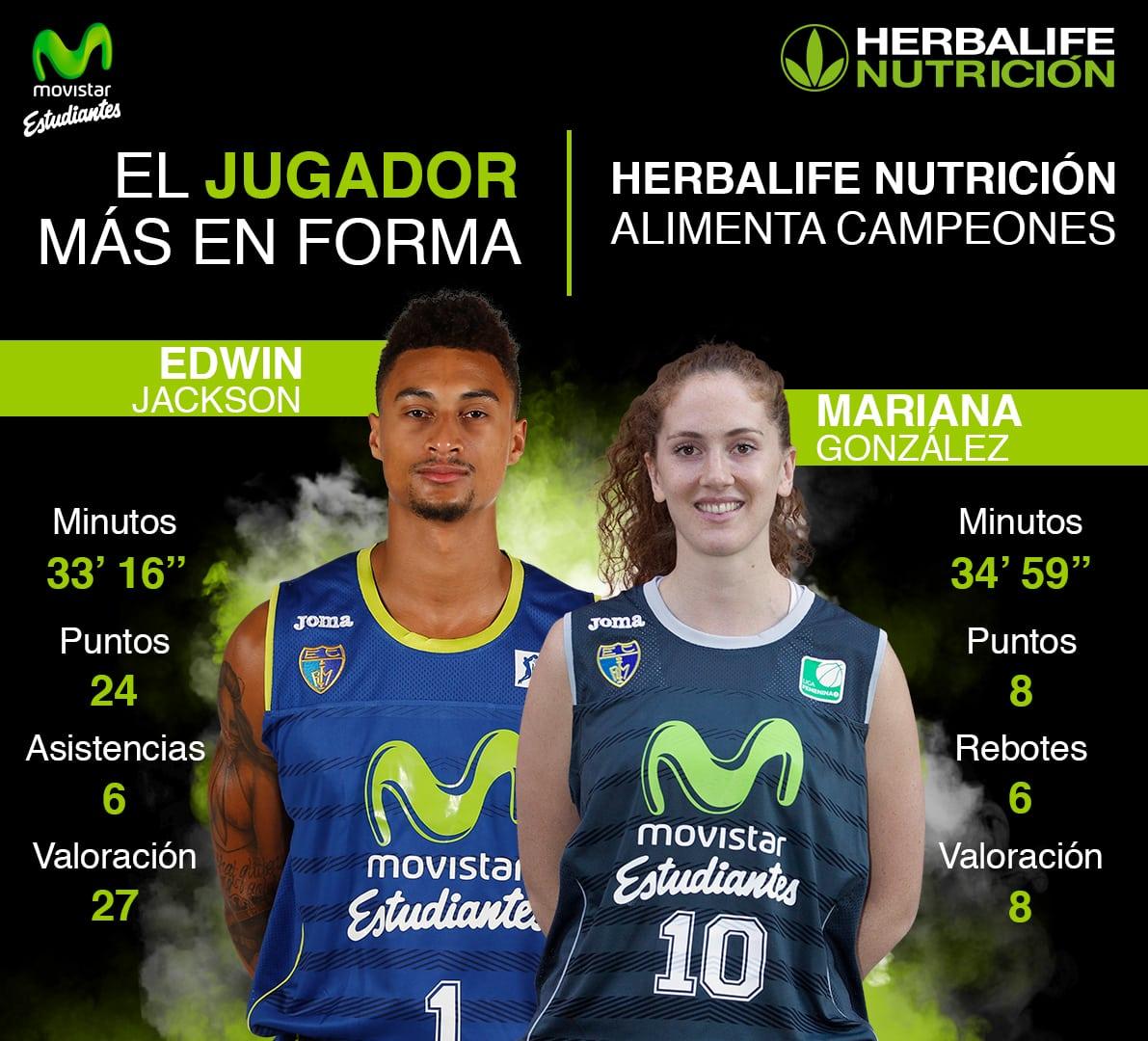 Herbalife presenta a los jugadores más en forma de la jornada: Edwin Jackson y Mariana González