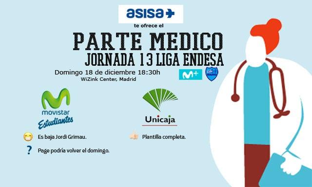 Asisa ofrece el parte médico del Movistar Estudiantes- Unicaja