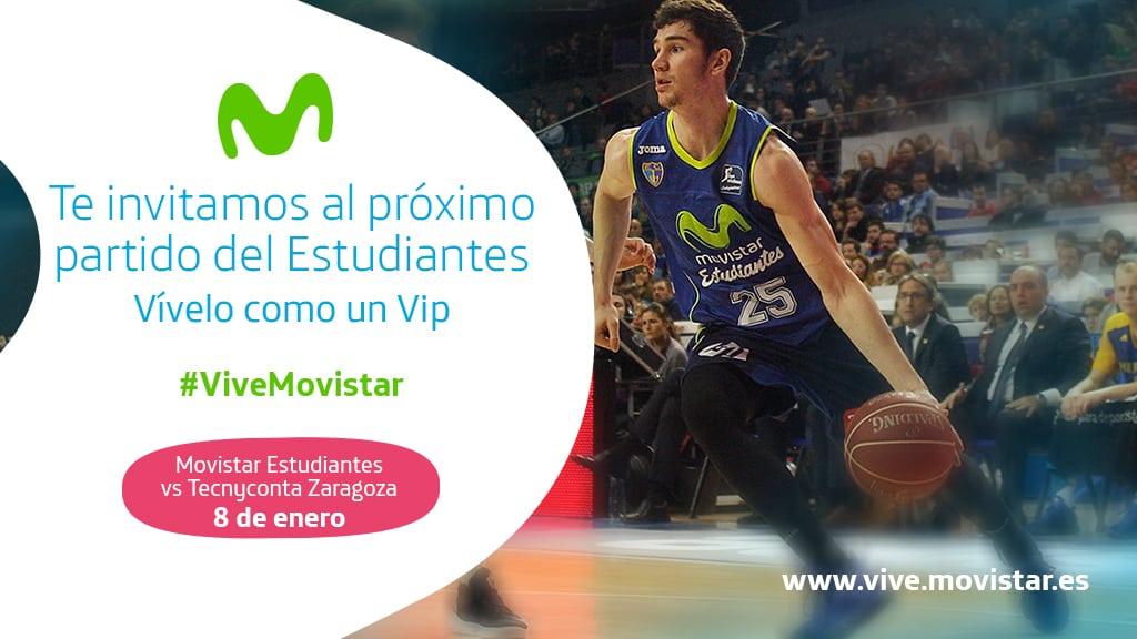 VIVE MOVISTAR. ¡Te invita al Movistar Estudiantes- Tecnyconta Zaragoza!