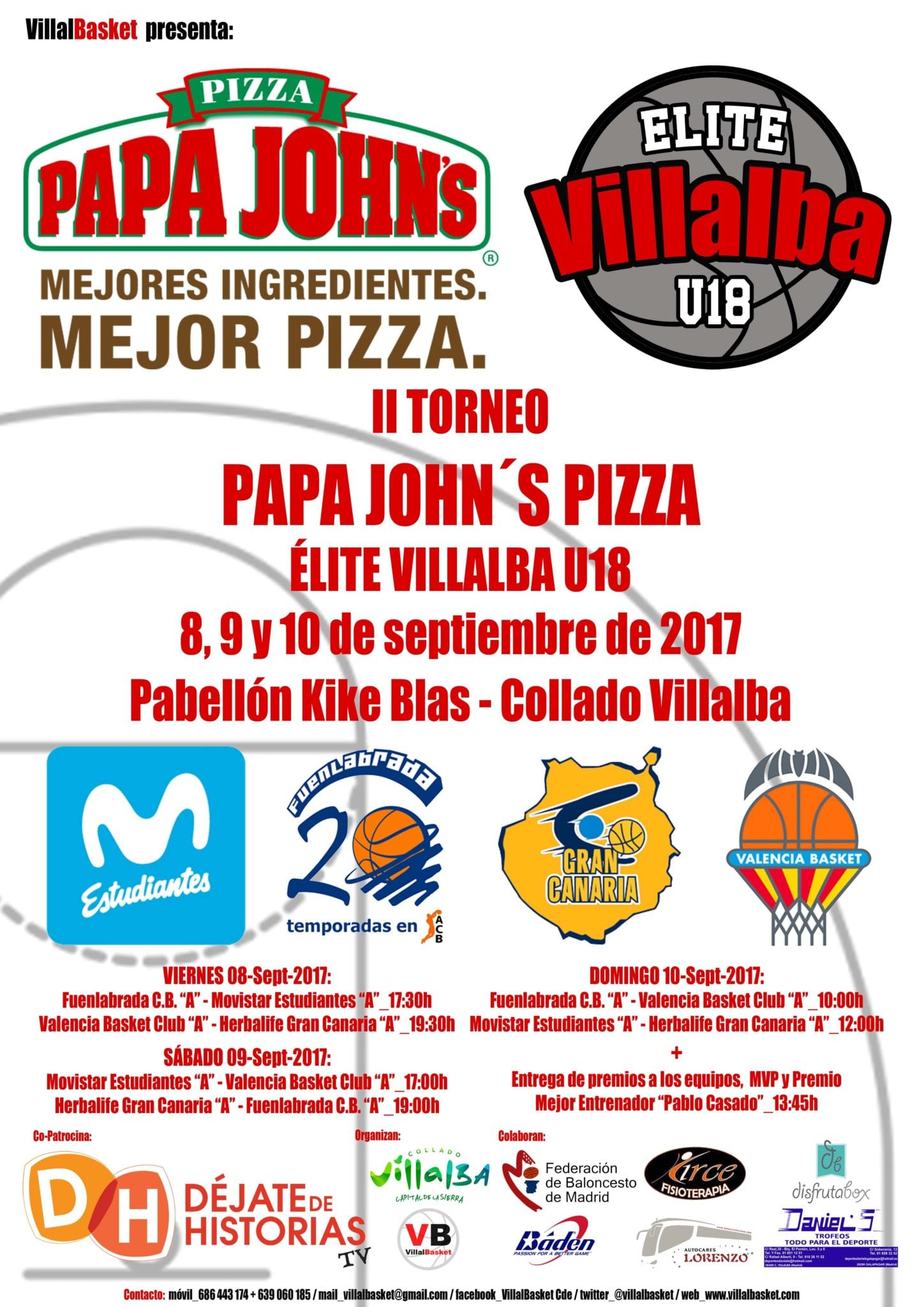 Prueba de fuego para los junior: Torneo Papa John's Pizza Elite Villalba