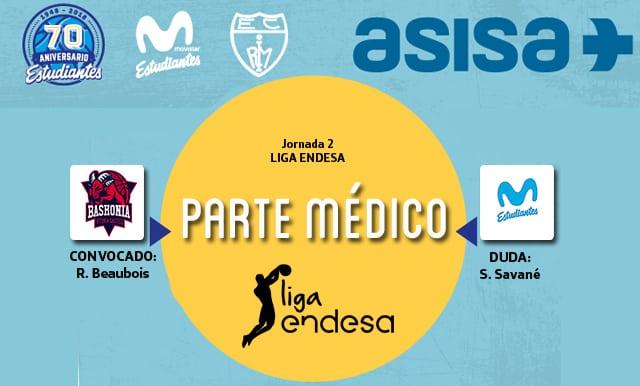 Asisa ofrece el parte médico y novedades del Baskonia- Movistar Estudiantes