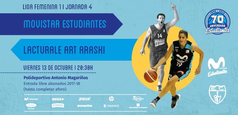 """Puente de baloncesto en Madrid con las """"women in black"""" (Movistar Estudiantes vs Lacturale Art Araski, viernes 13, 20:30h, Magariños. Canal FEB)"""