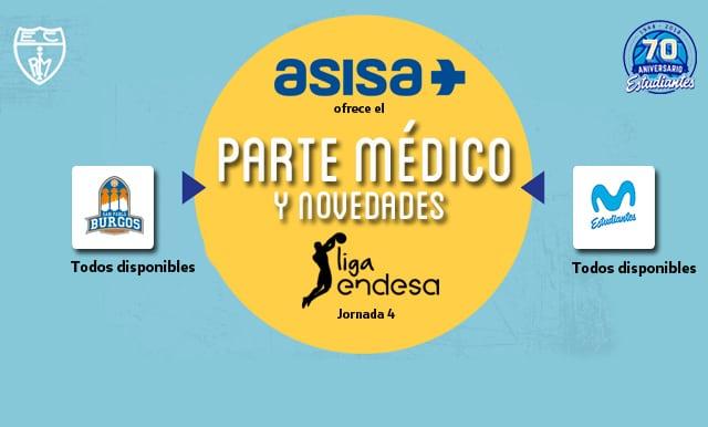 Asisa ofrece el parte médico y novedades del San Pablo Burgos- Movistar Estudiantes
