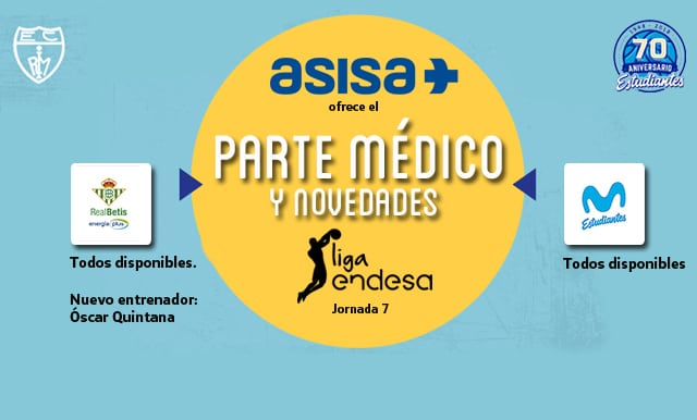Asisa ofrece el parte médico del Real Betis Energía Plus- Movistar Estudiantes