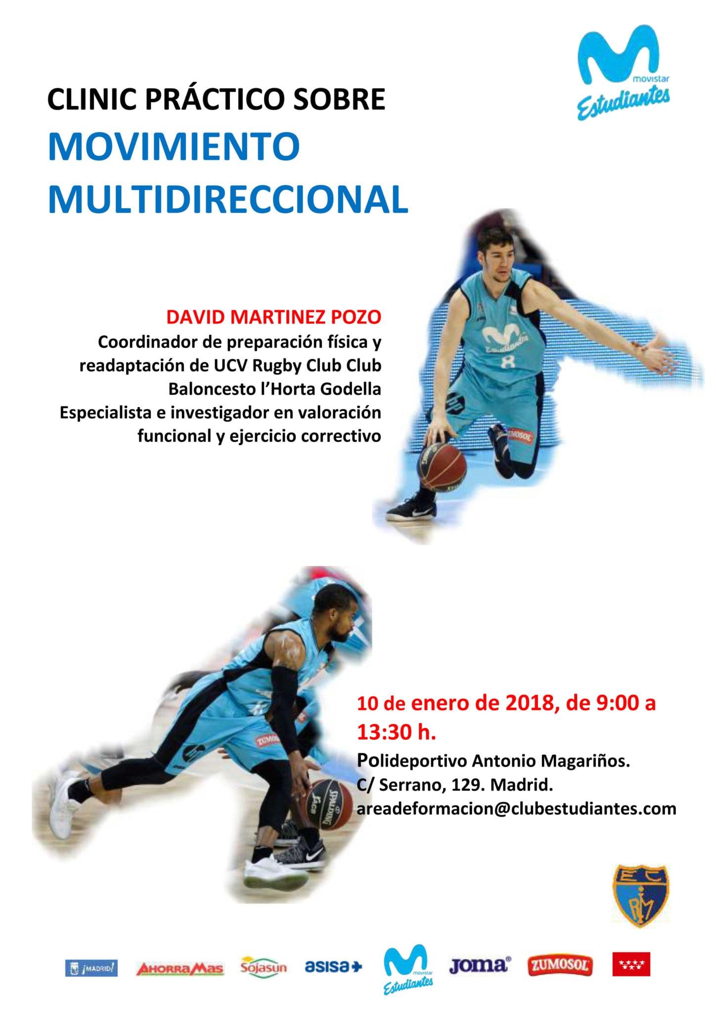 Clínic práctico sobre Movimiento Multidireccional, 10 de enero, Magariños