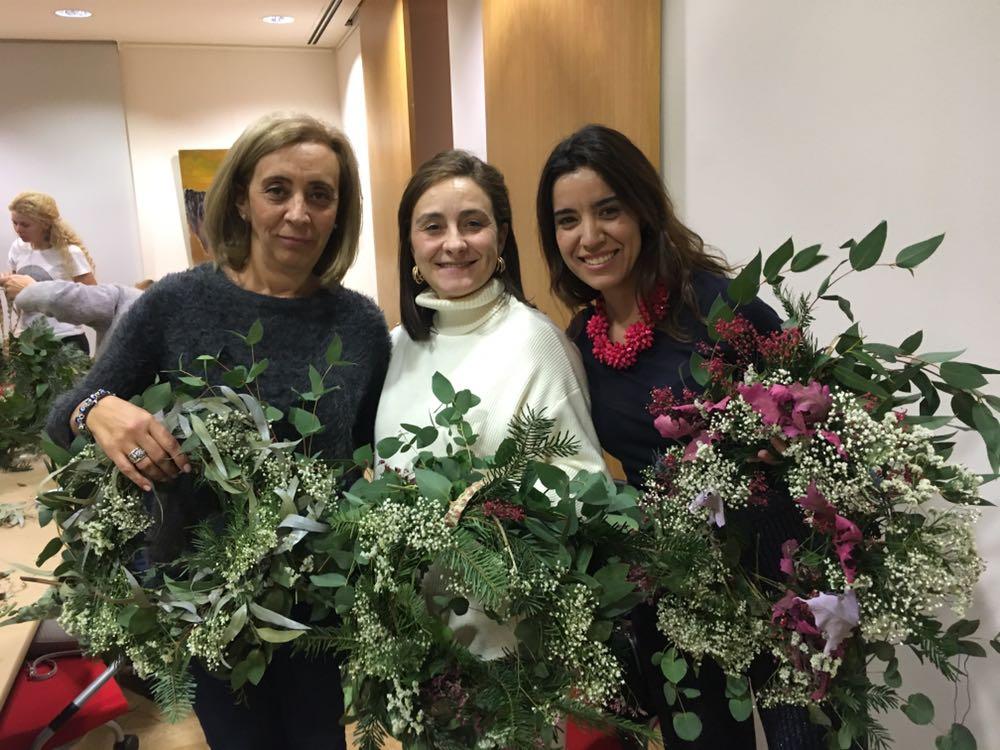 """""""Decora tu Navidad"""", taller del Club de Negocios Movistar Estudiantes y Olvido y las Flores"""