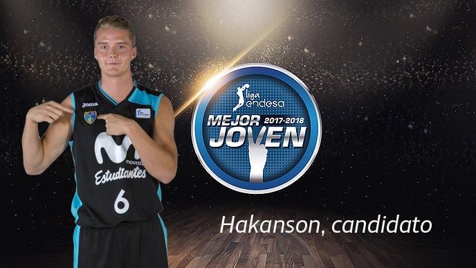 Hakanson, Candidato a Mejor Jugador Joven 2017-18 Liga Endesa