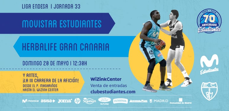 Entradas Movistar Estudiantes- Herbalife Gran Canaria, domingo 20 mayo 12:30h. Antes, Carrera de la Afición