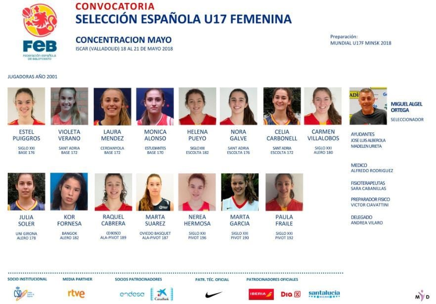Andrea Hernangómez y Mónica Alonso representarán a Movistar Estudiantes en las selecciones U18F y U17F