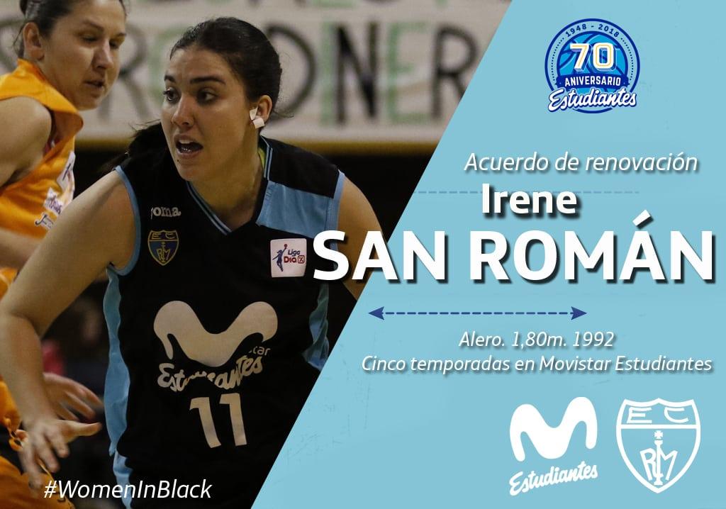 Acuerdo para la renovación de Irene San Román con Movistar Estudiantes
