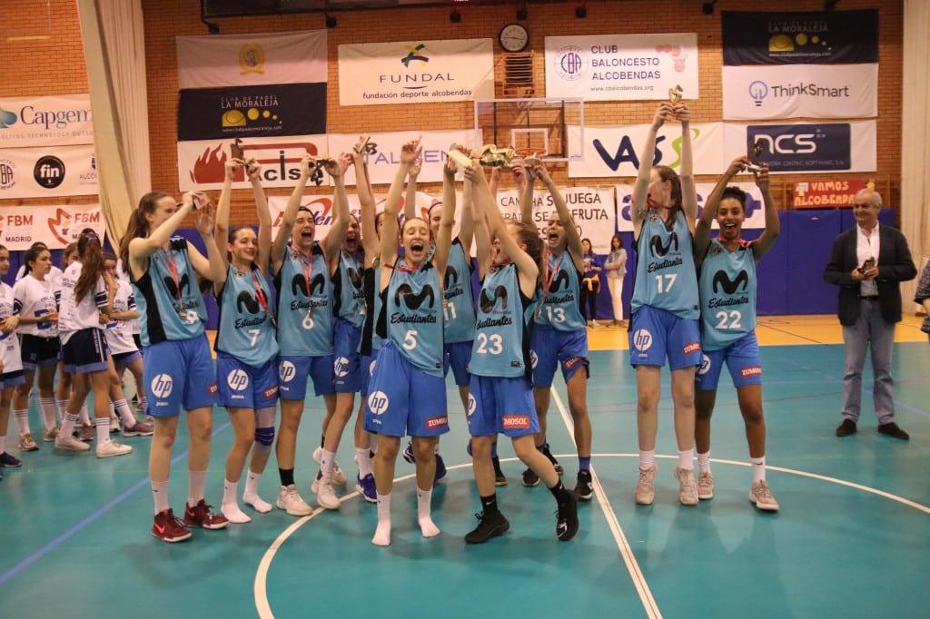 Fases Finales Infantiles de Madrid: Movistar Estudiantes, campeón en categoría femenina. Cuarto en masculina