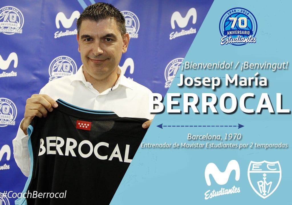 Josep María Berrocal será el entrenador de Movistar Estudiantes las dos próximas temporadas