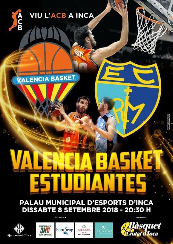 Valencia – Movistar Estudiantes, 8 sep. Inca