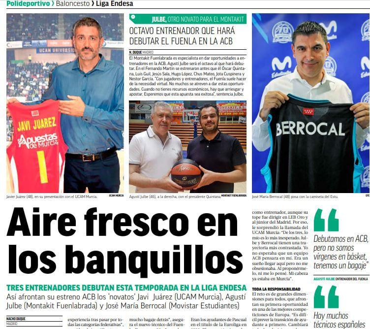 Berrocal, protagonista en Marca y Mundo Deportivo
