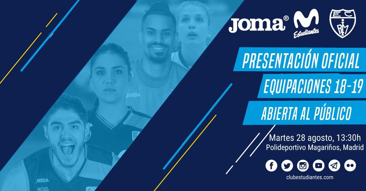 Ven a la presentación de las camisetas Joma