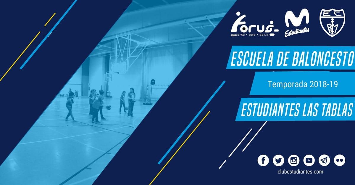 Escuela de Baloncesto en Colegio Estudiantes Las Tablas