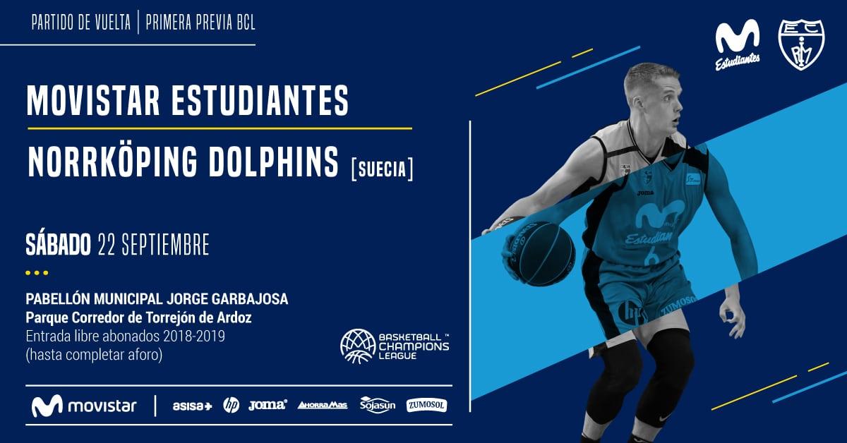 vs Norrköping Dolphins, sábado 22, 19h Torrejón