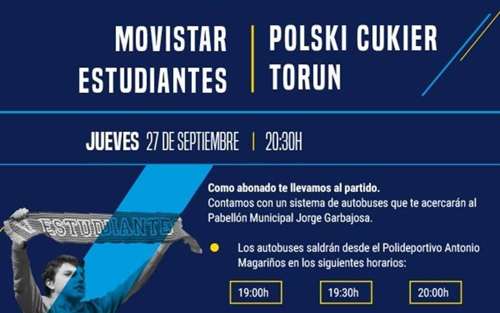 Autobuses gratuitos para los partidos en Torrejón