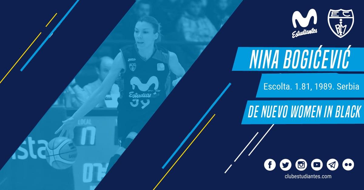 """Nina Bogicevic, de nuevo """"mujer de negro"""""""