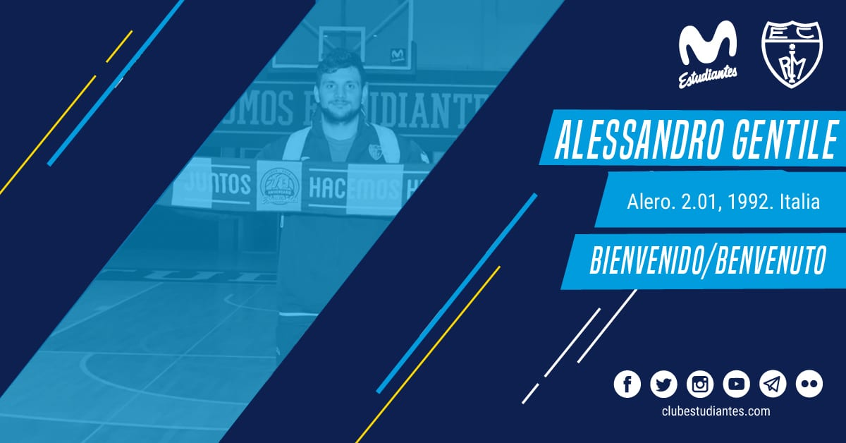Alessandro Gentile, refuerzo para Movistar Estudiantes