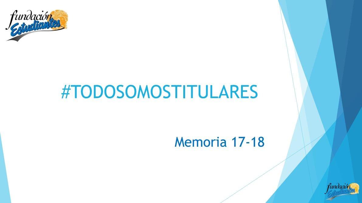 Memoria 2017-18 Fundación Estudiantes