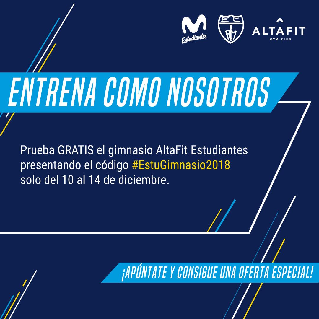 Prueba gratis Altafit Estudiantes