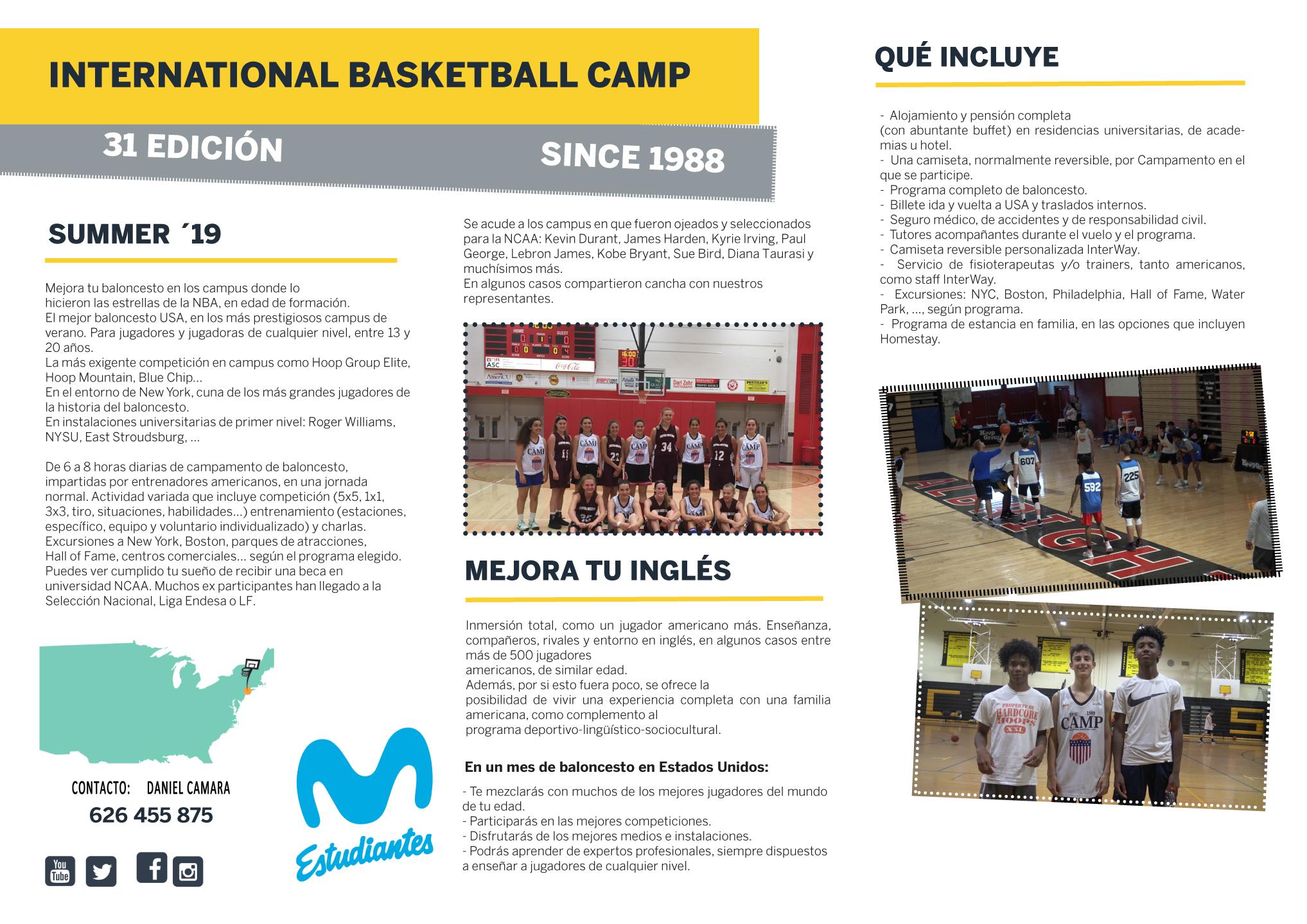 XXXI International Basketball Camp, EEUU