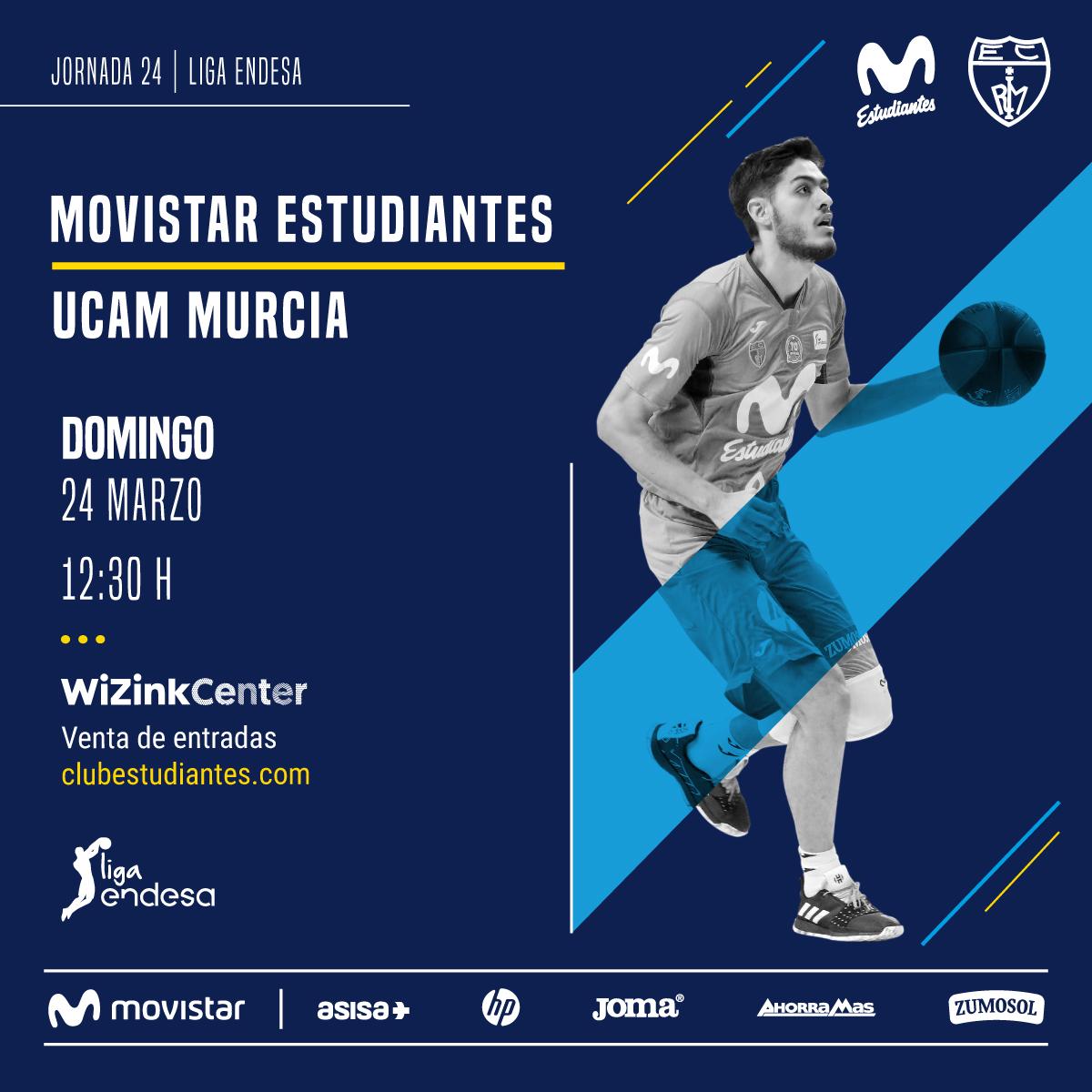 Movistar Estu – UCAM Murcia dom. 24, 12:30h