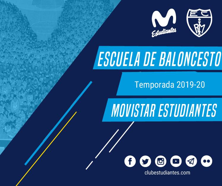Escuela de Baloncesto 2019-20. Abierta inscripción