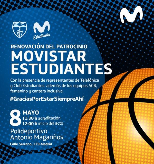 Acto de renovación con Movistar: 8 de mayo