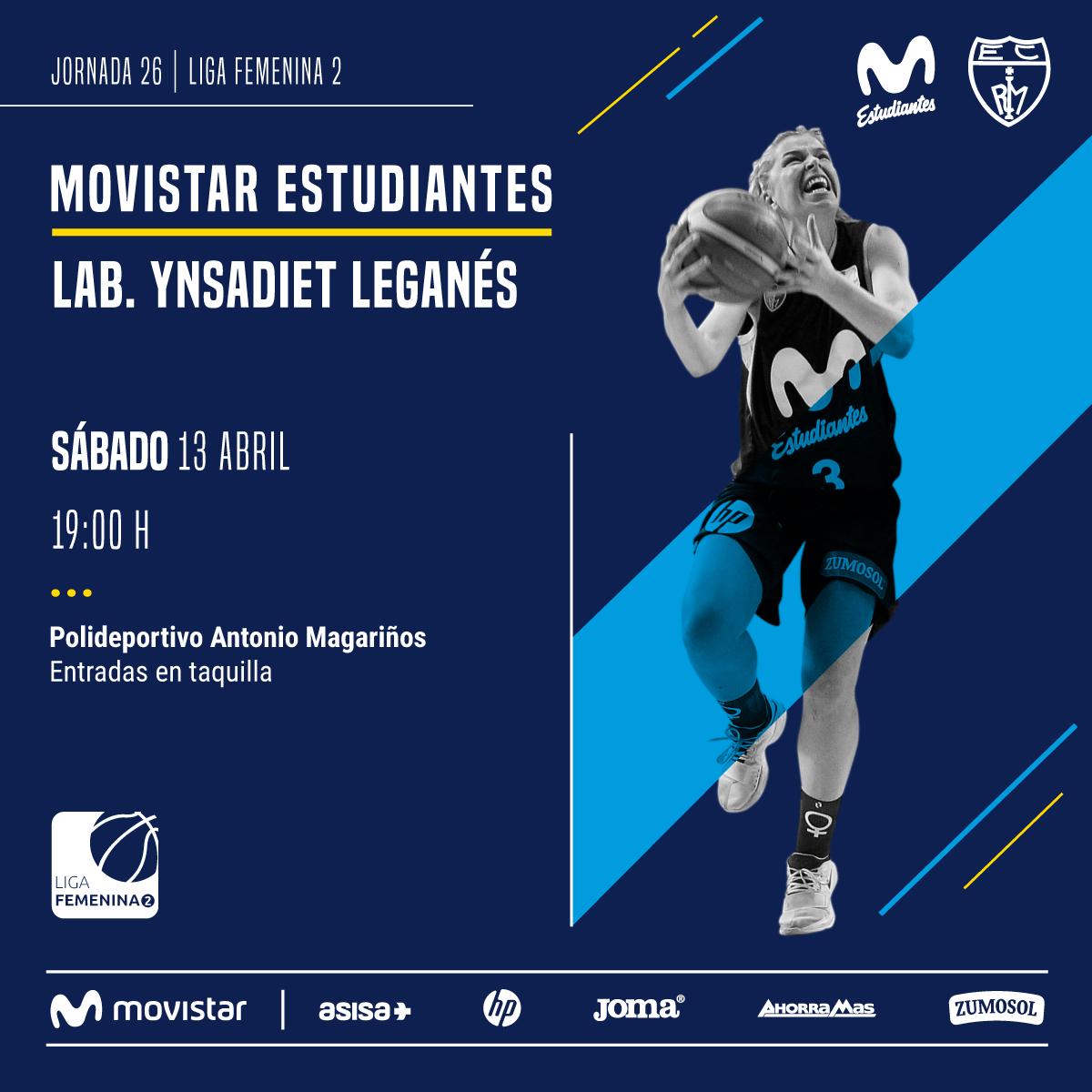 LF2: Movistar Estu- Y. Leganés, sábado 13, 19h