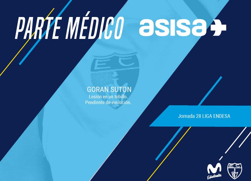 Parte médico con ASISA: Goran Suton