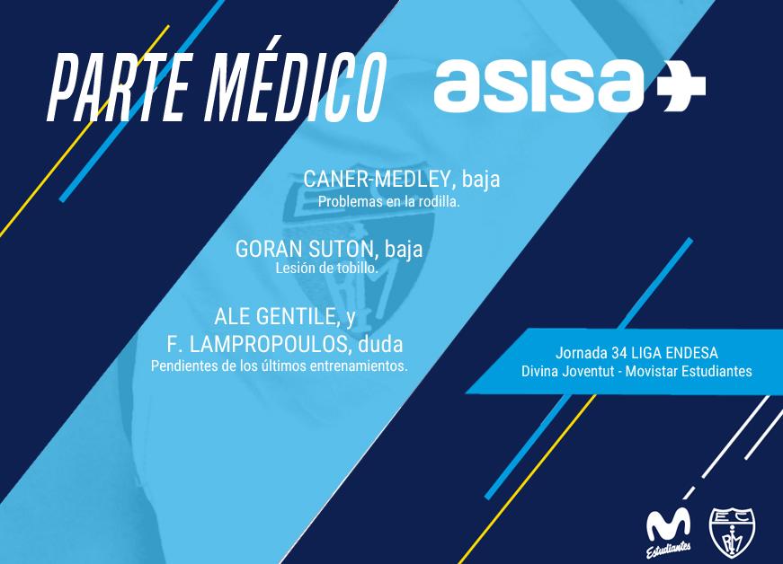 Parte médico ASISA jornada 34 Liga Endesa