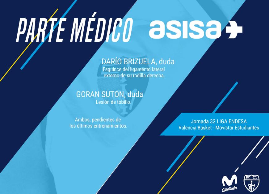 Parte médico ASISA @Valencia Basket
