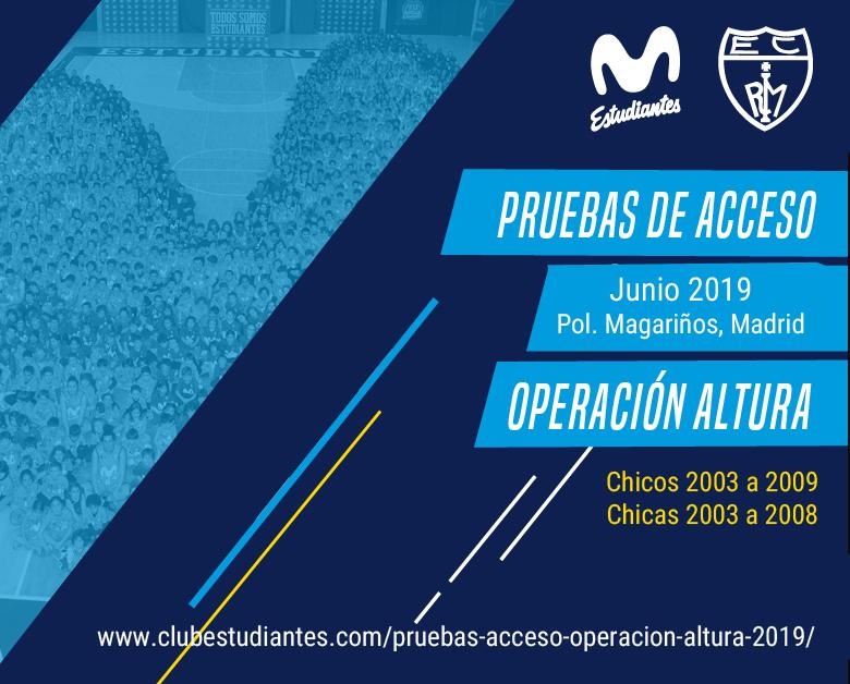 Pruebas de Acceso y Operación Altura Movistar Estudiantes 2019